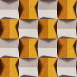 Abstract paneling pattern - seamless background - textile textur Royalty Free Stock Images