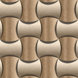 Abstract paneling pattern - seamless background - White Oak wood Stock Image