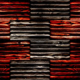 Abstract paneling pattern - seamless background - wooden surface Stock Photography