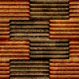 Abstract paneling pattern - seamless background - wooden surface Stock Images