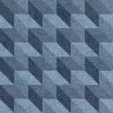 Abstract paneling pattern - seamless pattern - blue denim Royalty Free Stock Photography
