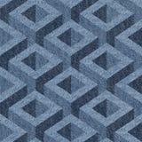 Abstract paneling pattern - seamless pattern - Blue denim jeans Stock Photo