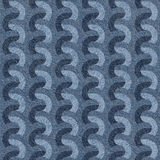 Abstract paneling pattern - seamless pattern - Blue denim jeans Stock Image