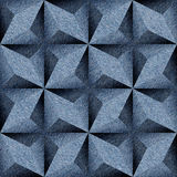 Abstract paneling pattern - seamless pattern - blue jeans Stock Images