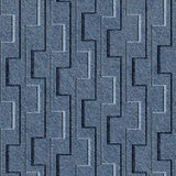 Abstract paneling pattern - seamless pattern - blue jeans cloth Stock Photo