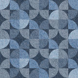 Abstract paneling pattern - seamless pattern, blue jeans surface Royalty Free Stock Image
