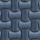 Abstract paneling pattern - seamless pattern, blue jeans textile Stock Images