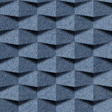 Abstract paneling pattern - seamless pattern, blue jeans textile Royalty Free Stock Images