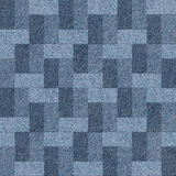 Abstract paneling pattern - seamless pattern, blue jeans textile Royalty Free Stock Photo