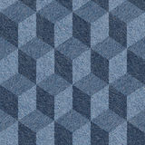 Abstract paneling pattern - seamless pattern - blue jeans textur Royalty Free Stock Photography