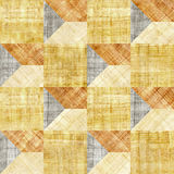 Abstract paneling pattern - seamless pattern - papyrus texture Royalty Free Stock Photos