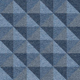 Abstract paneling pattern - seamless pattern - pyramidal pattern. Blue jeans textile Royalty Free Stock Photos