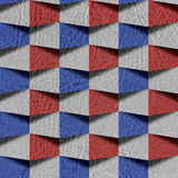 Abstract paneling pattern - seamless pattern - red-blue Colors Royalty Free Stock Photo