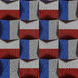 Abstract paneling pattern - seamless pattern - red-blue Colors Stock Photo