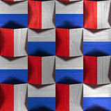 Abstract paneling pattern - seamless pattern - red-blue Colors Stock Photography