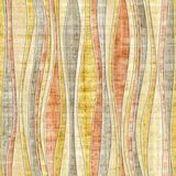 Abstract paneling pattern - seamless pattern - waves decor. Papyrus structure Stock Photo