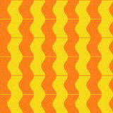 Abstract paneling pattern - waves decor - seamless background Stock Photos