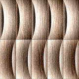 Abstract paneling pattern - waves decoration, Blasted Oak Groove Royalty Free Stock Images