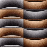 Abstract paneling pattern - waves decoration - leather texture Royalty Free Stock Images