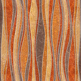 Abstract paneling pattern - waves decoration, seamless background Royalty Free Stock Images