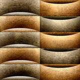 Abstract paneling pattern - waves decoration - wooden texture Royalty Free Stock Image