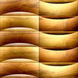 Abstract paneling pattern - waves decoration - wooden texture Royalty Free Stock Photography