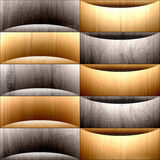 Abstract paneling pattern - waves decoration - wooden texture Stock Images