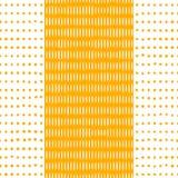 Dots and Stripes Yellow Seamless Pattern stock illustration