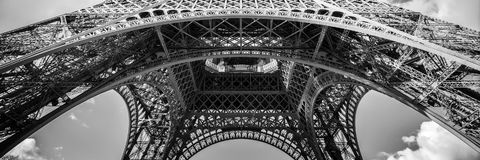 Abstract panorama of the Eiffel tower, Paris France. Abstract panorama of the Eiffel tower in Paris France Royalty Free Stock Photography