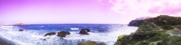 Abstract panorama van Naxos Royalty-vrije Stock Afbeeldingen