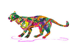 Abstract panther silhouette Stock Photo