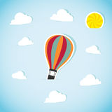 Abstract paper air balloon. Vector illustration Royalty Free Stock Photo