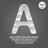 Abstract Paper Alphabet and Digit Vector Royalty Free Stock Photos