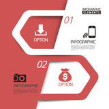 Abstract paper arrow infographic elements template Royalty Free Stock Photos