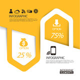 Abstract paper arrow infographic elements template. In yellow Royalty Free Stock Photography