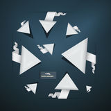 Abstract Paper Arrows Set Stock Photography