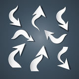 Abstract Paper Arrows Set Stock Photo