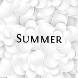 abstract paper art style white color flowers seamless texture, floral pattern with word summer vector Stock Photography