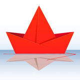 Abstract paper boat. Royalty Free Stock Photo