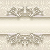 Abstract paper border decoration Royalty Free Stock Photos