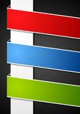 Abstract paper bright banners Stock Image