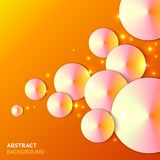 Abstract paper bubbles background with lights Royalty Free Stock Photography