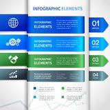 Abstract paper business infographics elements Stock Photo