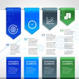Abstract paper business infographics elements Stock Photos