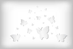 Abstract paper butterflies Royalty Free Stock Photo