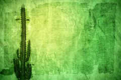 Abstract paper with cactus Stock Photography