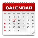 Abstract paper calendar Royalty Free Stock Photos