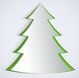 Abstract paper Christmas Tree. Royalty Free Stock Photos