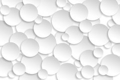Abstract paper circle design silver background texture. Stock Images