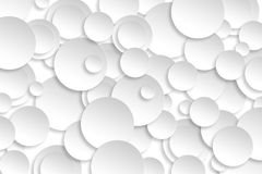 Abstract paper circle design silver background texture. Stock Image